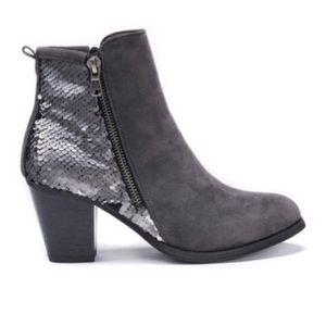 Muk Luks Lizzie Faux Fur Lined Block Heel Boot